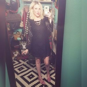 Witchy and pretty, SELF ESTEEM, black, lace dress!